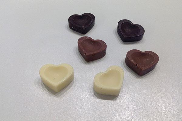 corazones de chocolate Confitería Rufino Aracena