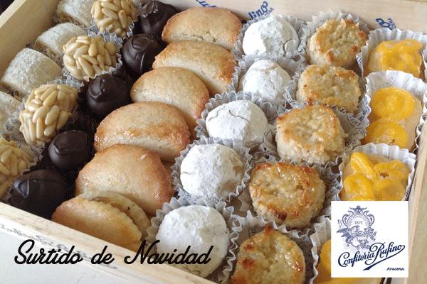 surtido de Navidad pasteles regalos de empresa Confitería Rufino Aracena