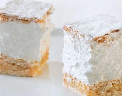 milhoja artesana de merengue Confiteria Rufino Aracena