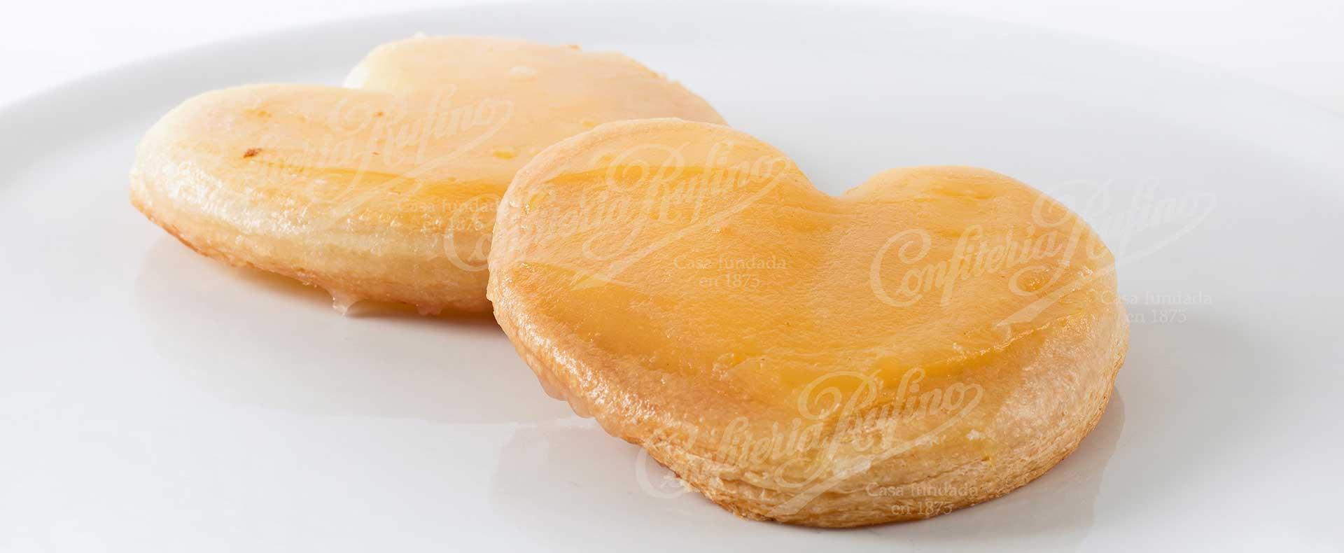 palmera de huevo crema artesana Confiteria Rufino Aracena