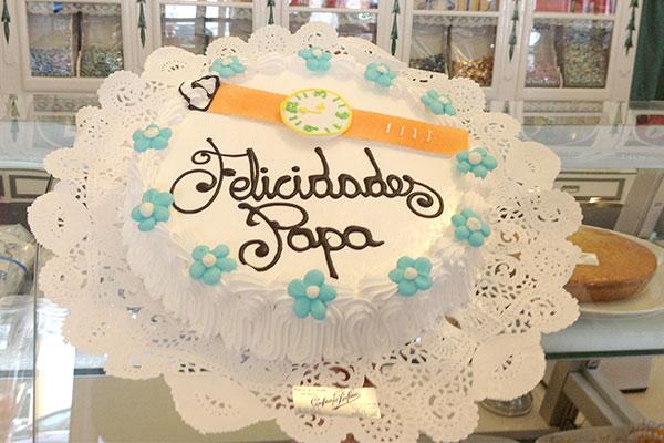 Tarta para celebrar el Día del Padre Confiteria Rufino Aracena