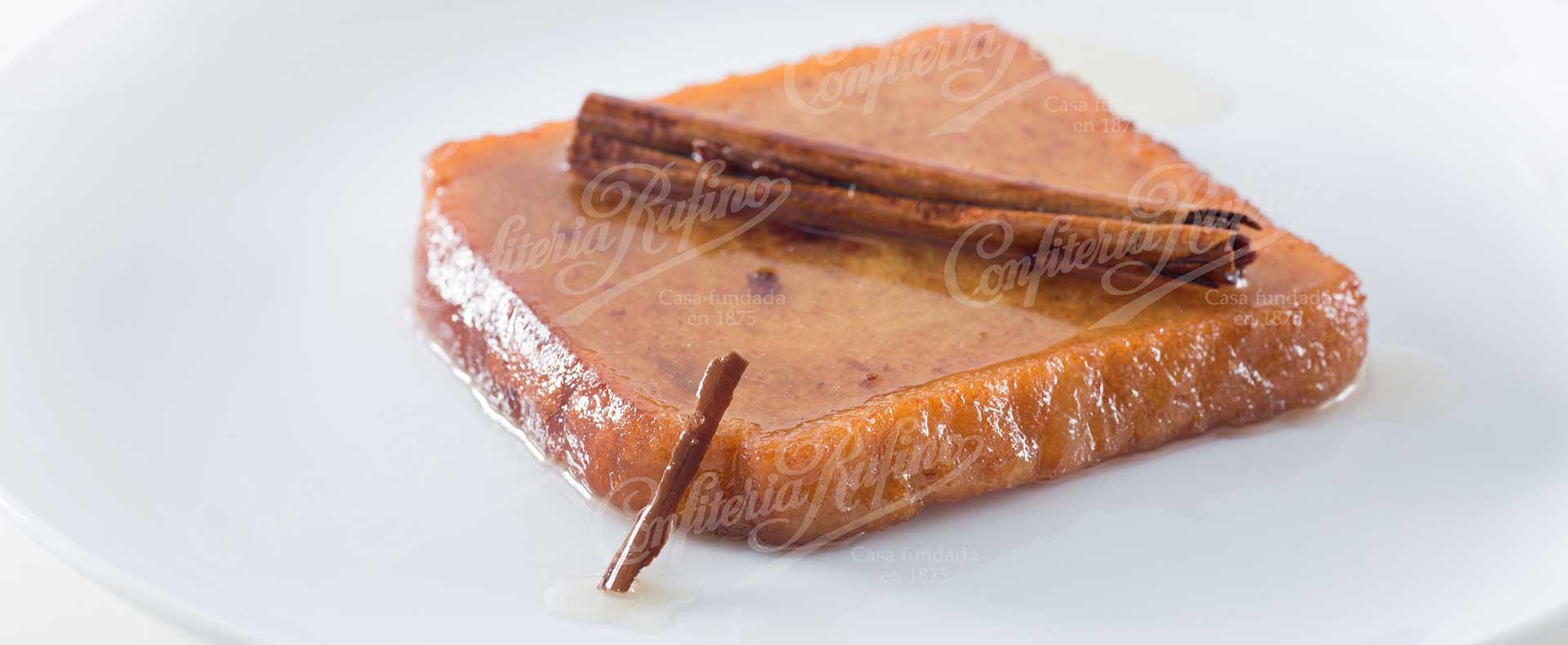 Torrija dulce frito de Semana Santa Confiteria Rufino Aracena