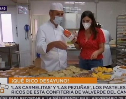 Confitería Rufino en Valverde del Camino, protagonista del programa 'Hoy en día' de Canal Sur Televisión